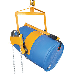 IGE Pulley-and-Chain Drum-Rotator Forklift Attachment