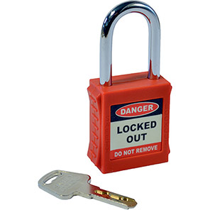 Red Safety Lockout Padlock
