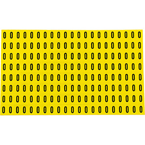 Beaverswood Yellow Self-Adhesive Numbers and Letters 6mm x 9.5mm (Pack of 168)
