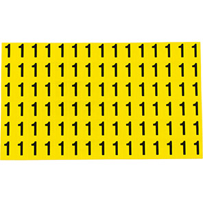 Beaverswood Yellow Self-Adhesive Numbers and Letters 8.5mm x 12.5mm (Pack of 90)
