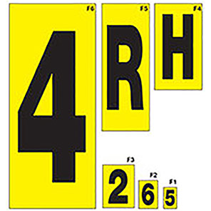 Beaverswood Yellow Self-Adhesive Numbers and Letters 14mm x 19mm (Pack of 36)