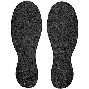 Beaverswood Black Self-Adhesive Slip-Resistant Boot Prints (Pack of 10)