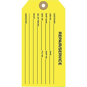 Beaverswood Yellow Repair/Service Tag (Pack of 100)
