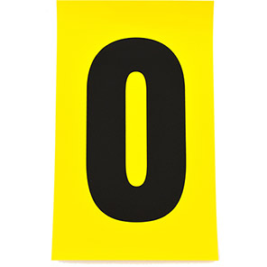 Beaverswood Yellow Self-Adhesive Numbers and Letters 140mm x 230mm