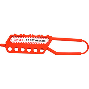 """Non-Conductive """"Danger - Do Not Operate"""" 6-Hole Lockout Hasp"""