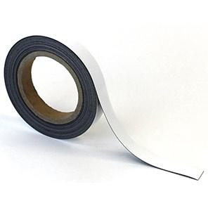Beaverswood White Magnetic Easy-Wipe Racking Strip 10m