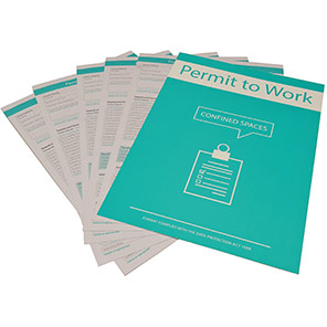 Centurion Confined Spaces Permit to Work (Pack of 10)