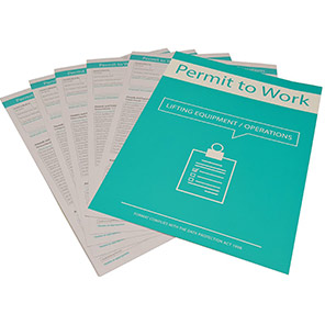 Centurion Lifting Equipment Permit to Work (Pack of 10)