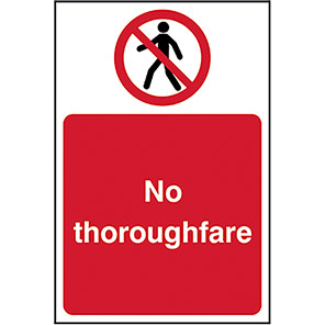 No Thoroughfare Legislation Signs