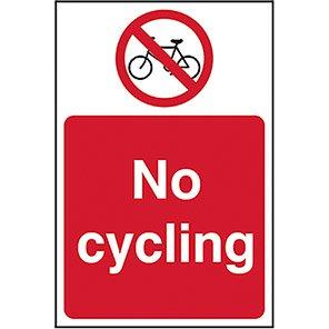 No Cycling Legislation Signs