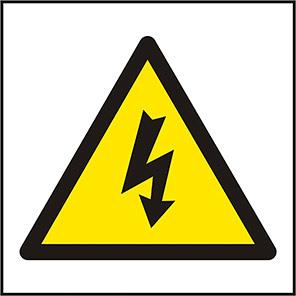 Spectrum Industrial Electrical Hazard Symbol Sign