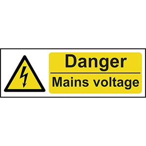 "Spectrum Industrial ""Danger Mains Voltage"" Sign"