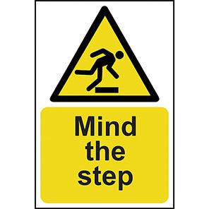 Mind The Step Hazard Warning Signs