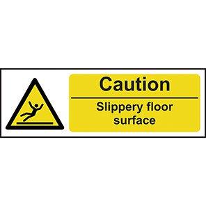 Caution Slippery Floor Surface Hazard Warning Signs