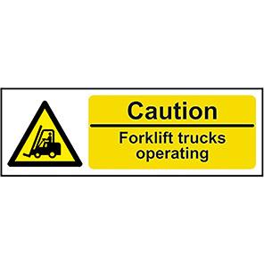 ForkLift Trucks Operating Signs