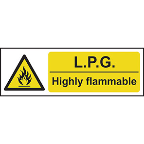 LPG Highly Flammable Warning Signs