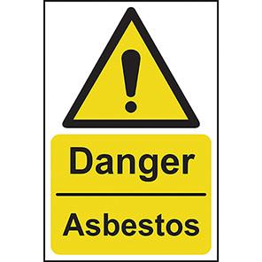 """Spectrum Industrial """"Danger Asbestos"""" Warning Sign"""