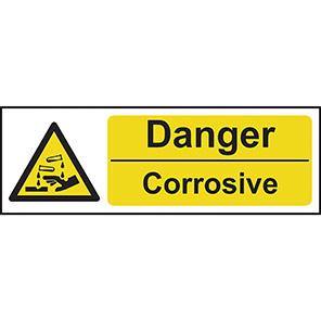 """Spectrum Industrial """"Danger Corrosive"""" Sign"""