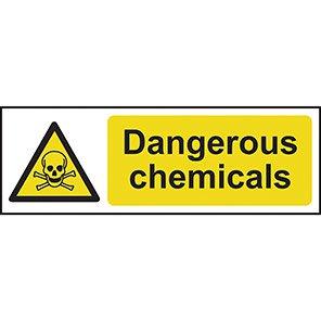 "Spectrum Industrial ""Dangerous Chemicals"" Sign"