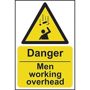 Danger Men Working Overhead Signs