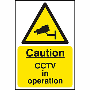 """Spectrum Industrial PVC """"Caution CCTV In Operation"""" Sign 200mm x 300mm"""