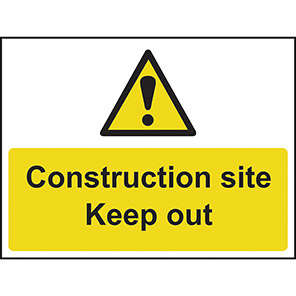 """Spectrum Industrial """"Construction Site/Keep Out"""" Sign"""
