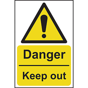 """Spectrum Industrial """"Danger Keep Out"""" Sign"""