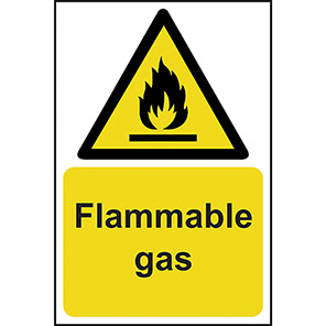 Flammable Gas Warning Signs