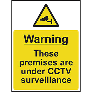 "Spectrum Industrial ""Warning These Premises Are Under CCTV Surveillance"" Sign"