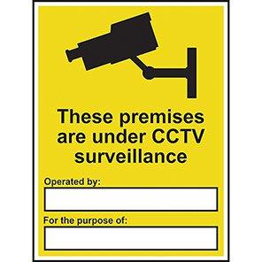 "Spectrum Industrial PVC ""Premises Are Under CCTV"" Sign 300mm x 400mm"