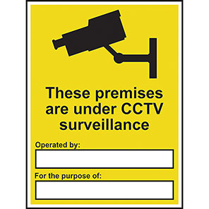 "Spectrum Industrial ""These Premises Are Under CCTV Surveillance"" Sign"