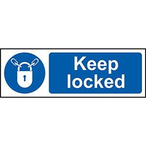 Mandatory Keep Locked Signs