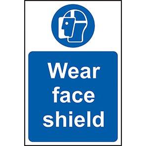 Mandatory Wear Face Shield Signs