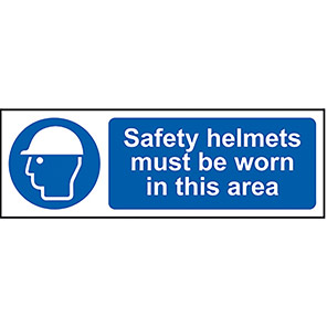Safety Helmets Must Be Worn (Area) Sign