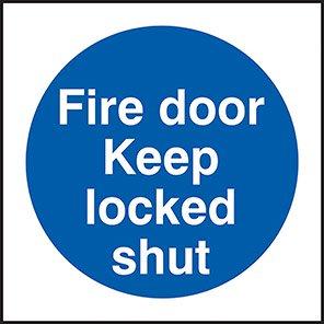 Fire Door Keep Locked Shut Signs