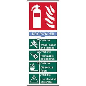 EN3 Fire Extinguisher Colour Code Dry Powder Sign