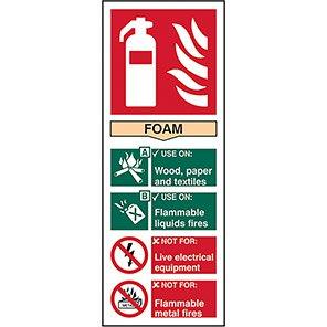 EN3 Fire Extinguisher Colour Code Foam Sign