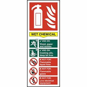 EN3 Fire Extinguisher Colour Code Wet Chemical Sign