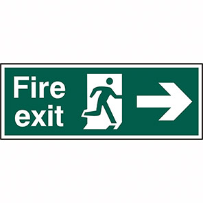 Fire Exit Right Signs With Arrow