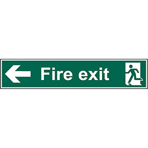 Fire Exit Left Signs With Arrow