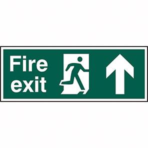 Fire Exit Arrow Up 400 X 150mm