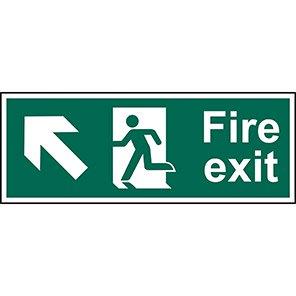 """Spectrum Industrial PVC """"Fire Exit"""" Up/Left Arrow Sign"""