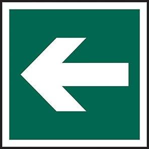 Fire Exit Sign Arrow Symbol Horizontal/Vertical