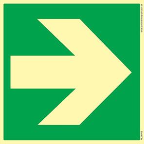 Spectrum Industrial Fire Exit Arrow Symbol Sign 200mm x 200mm