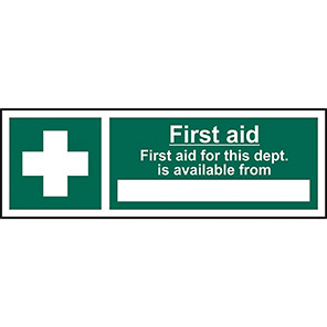 Safe Condition First Aid For This Department Signs