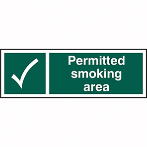 Permitted Smoking Area Signs