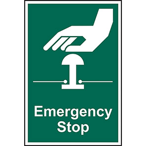 Safe Condition Emergency Stop Sign