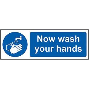 """Spectrum Industrial """"Now Wash Your Hands"""" Sign"""