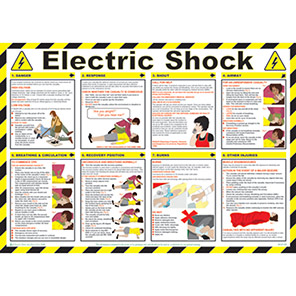 Spectrum Industrial Electric Shock First Aid Safety Poster