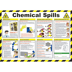 Spectrum Industrial Chemical Spills Safety Poster